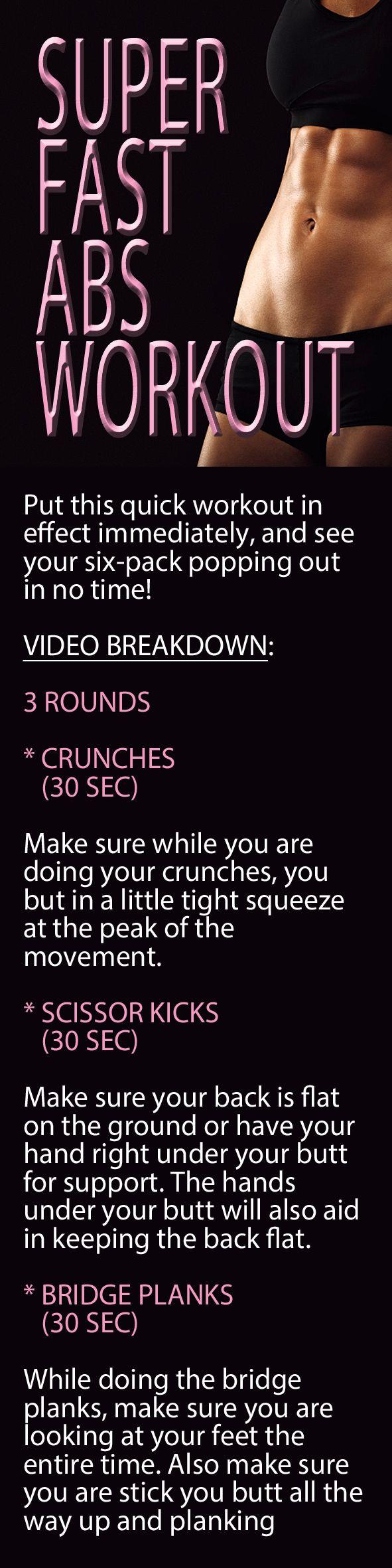 .Super fast abs workout. #abs #sixpack #flatstomach #flatbelly #coreworkout #abworkout #abworkout #sixpackworkout #bellyfat #muffintop #lovehandles