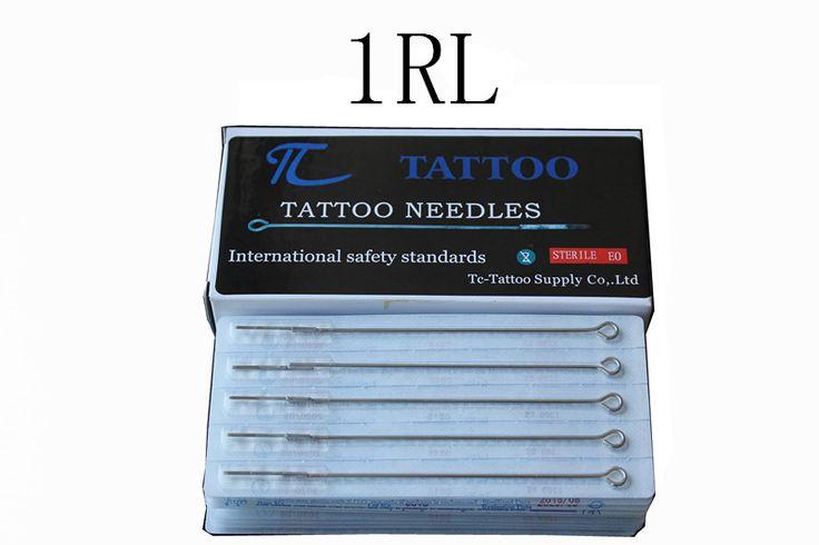 ТК Татуировки 1RL татуировки иглы 50 шт./лот бесплатная доставка stianless стали иглы медицинские татуировки иглы