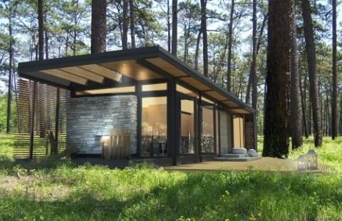 Ahh prefab, why must you always tempt us with affordable modern  architecture?  The latest eye candy I stumbled across is this attractive modern prefab  cabin by a Canadian company called Karoleena. This beauty will only set you  back $129,000 which sounds great until you realize that it doesn'