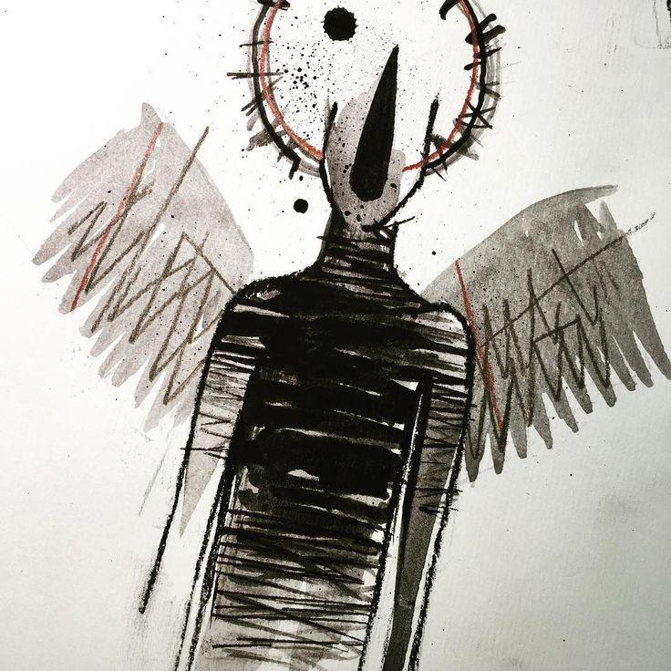 #tattoo #illustration #black #gouache #sketch #flashtattoo #lucabraidottipaint