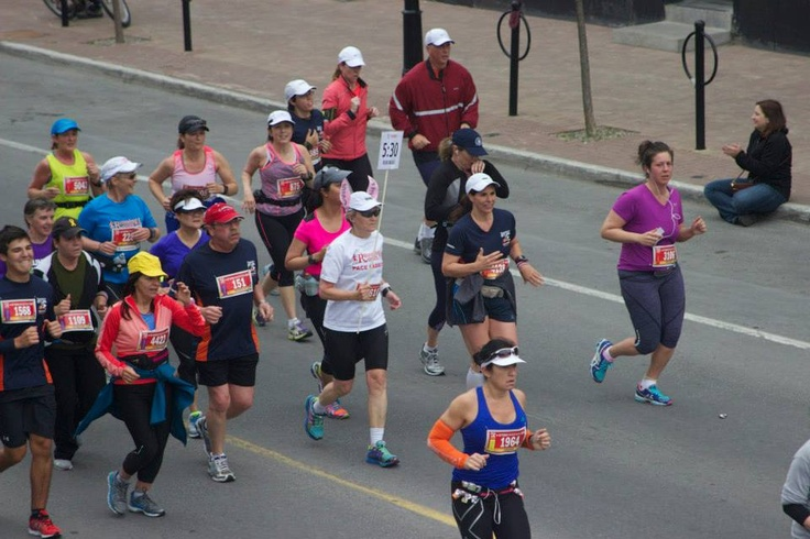 The pace bunnies (see the runner with ears and holding a time) are an important part of Tamarack Ottawa Race Weekend - from elite runners to recreational participants, it was obvious how important they are to Tamarack Ottawa Race Weekend!