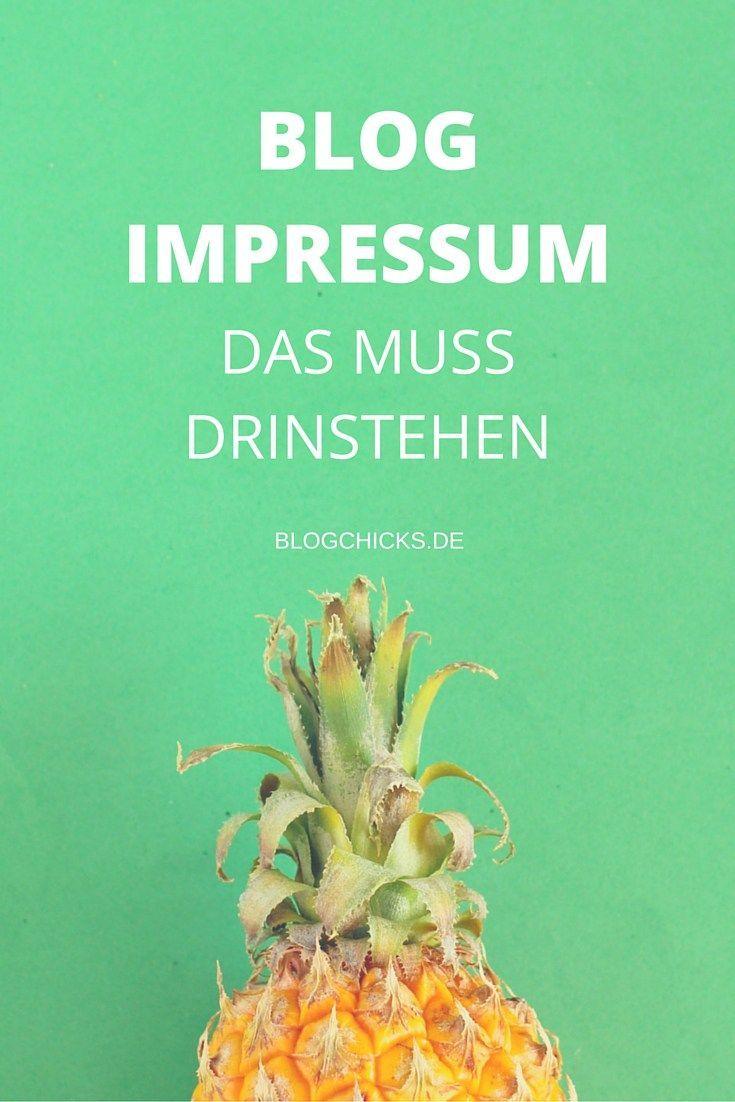 Blog Impressum: das muß drinstehen I www.blogchicks.de