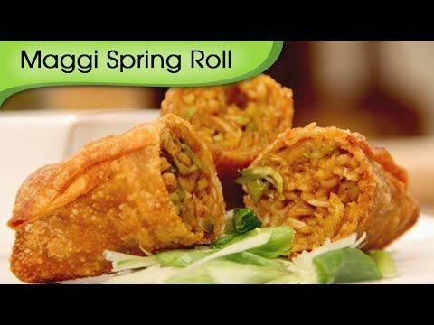 ▶ Maggi Noodles Spring Roll - Fast Food Recipe by Ruchi Bharani - Vegetarian [HD] - YouTube