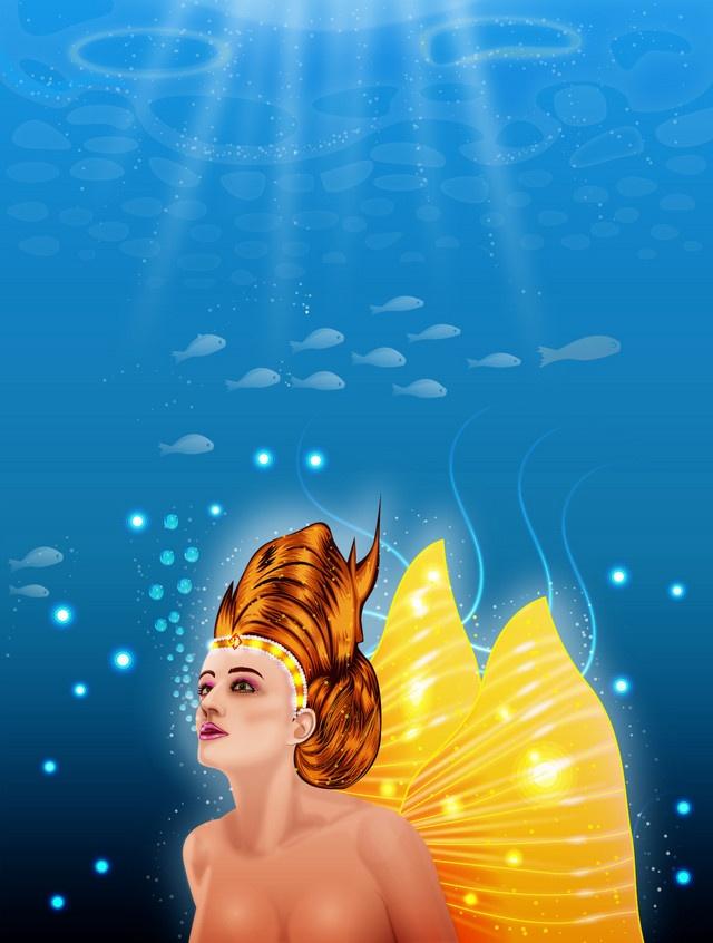 Sea Nymph #Design, #Art: Nymphs, Illustration, Nymph Design