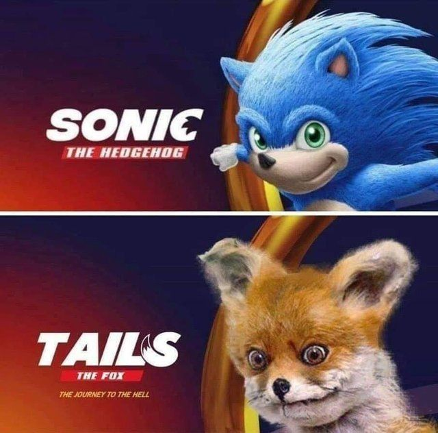 knuckles sonic the hedgehog movie tails