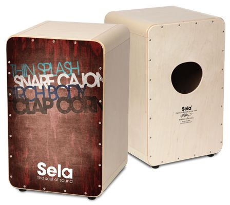 Sela CaSela Vintage Red - Sela Cajon - The Soul Of Sound