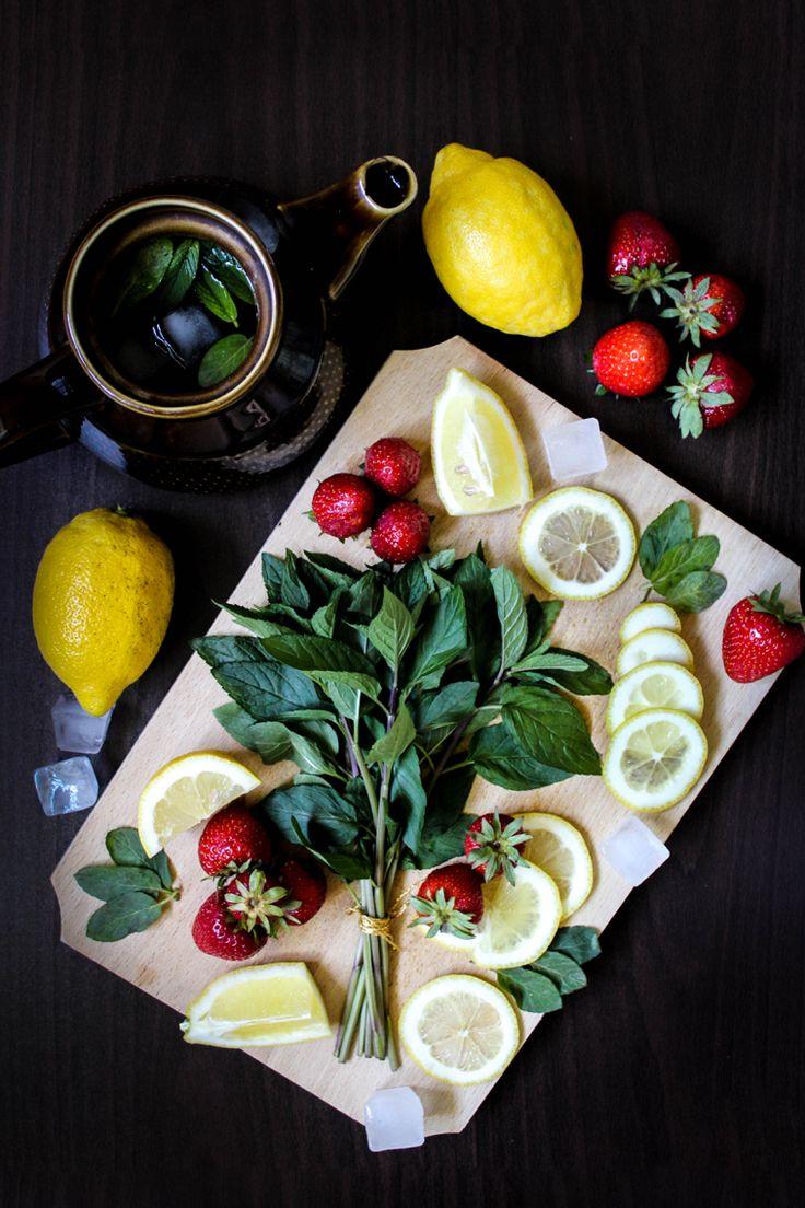 Lemonade. 🍋🍓🌿 Be inspired | By DorothyPuscas