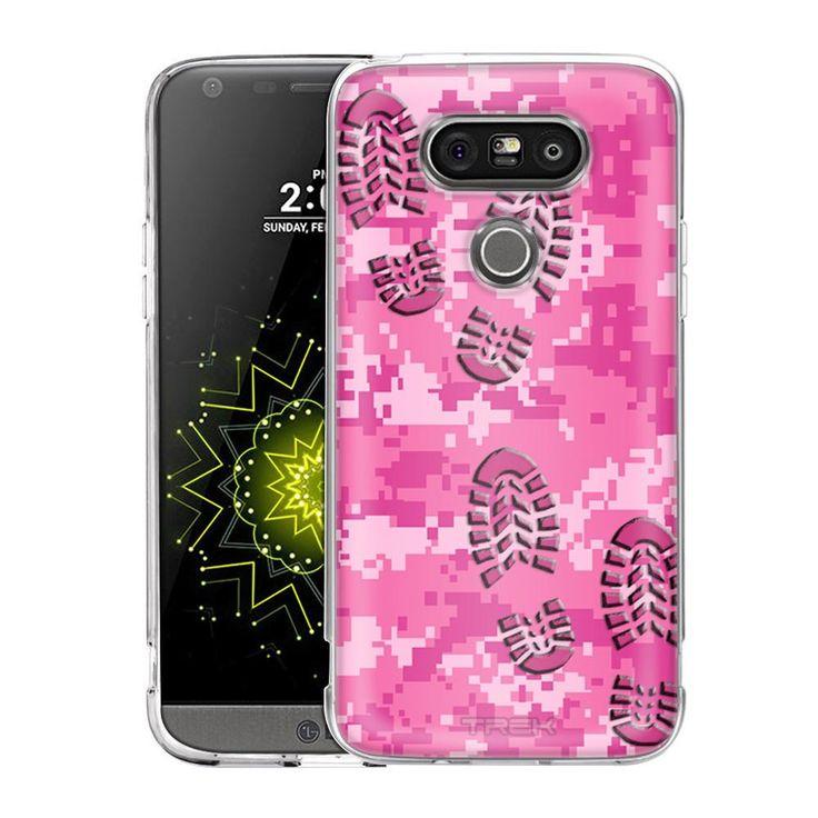 LG G5 Footprints on Digital Pink Camouflage Slim Case
