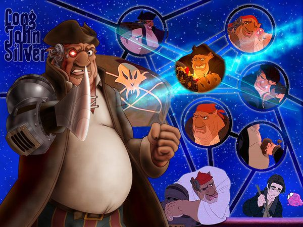 Treasure Planet, John Silver by PrincessTigerLili.deviantart.com