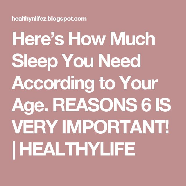 Here's How Much Sleep You Need According to Your Age. REASONS 6 IS VERY IMPORTANT! | HEALTHYLIFE