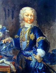 Victor Amadeus III, son of Charles Emmanuel III, as child. Portrait by Maria Giovanna Clementi.
