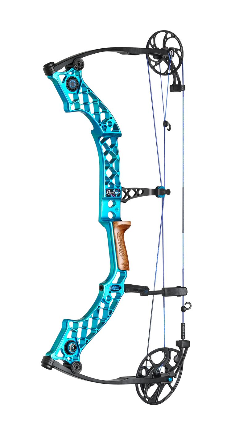 Mathews Jewel- best bow I have ever shot! Camo riser, blacked out limbs and pink/purple detail for this girl!! Can't wait to get my buck this fall!