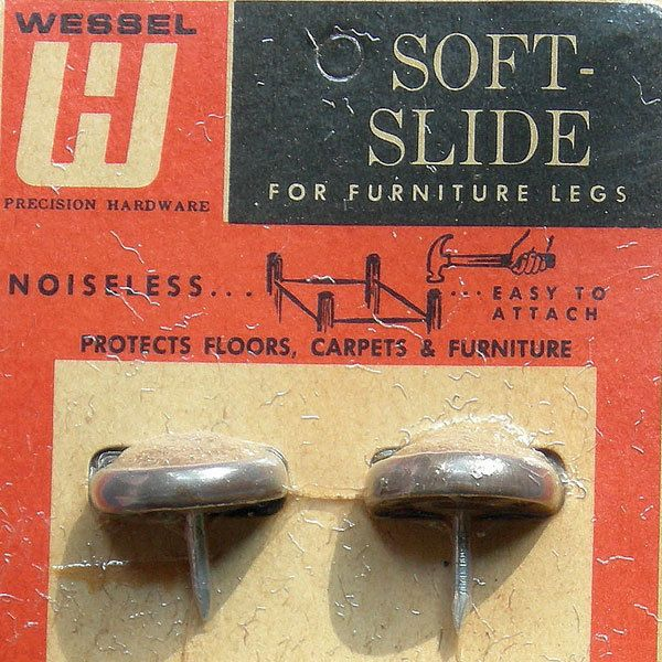 VTG Wessel Soft slide furniture legs hardware covers floor protector nail parts #Modern #BigBoyTumbleweed