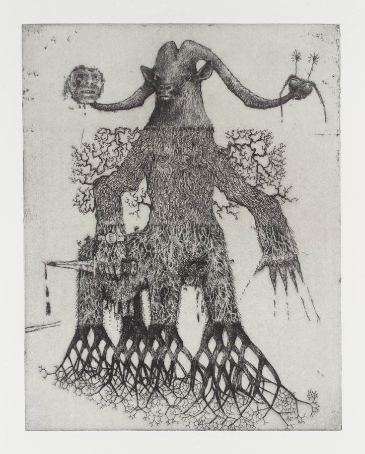 """Jake and Dinos Chapman, """"Exquisite Corpse"""", etching."""