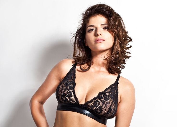 Lara II - this incredibly soft and lacy bra has been complemented with gold-plated rings, hooks, and adjusters.