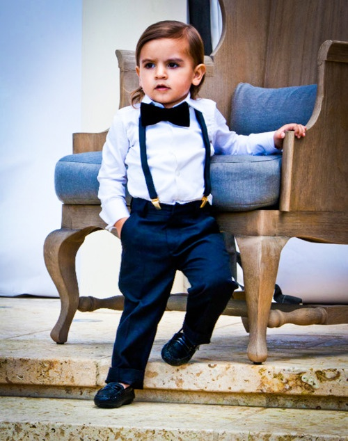 #SGWeddingGuide: Little Mason Disick looking sharp and cool.  He definitely takes after his handsome daddy, Scott.