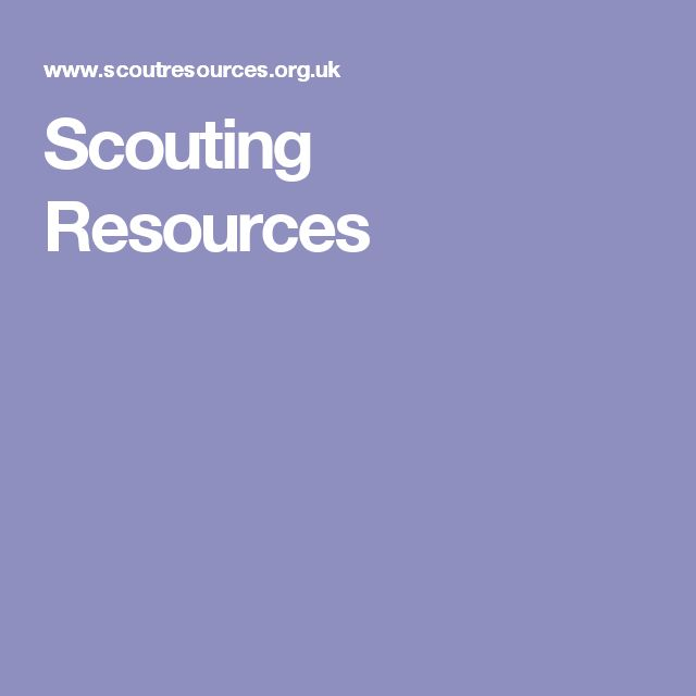 Scouting Resources