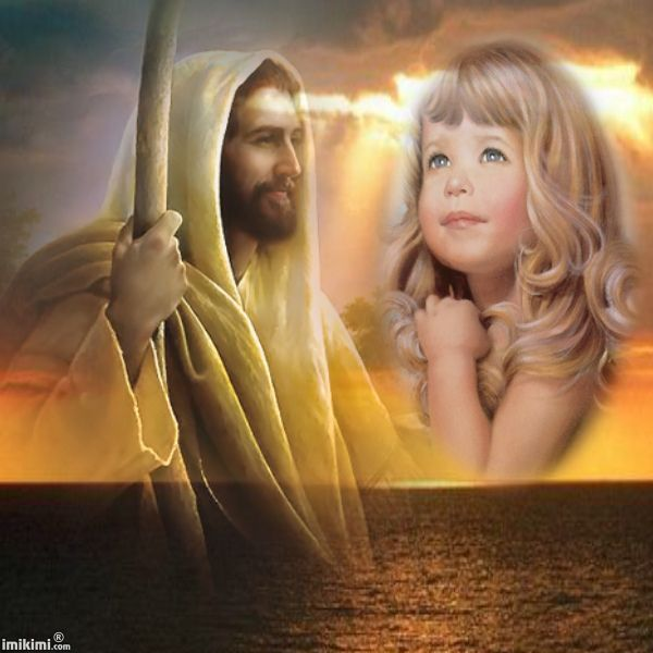 """Jesus Always Loves ME"" photo montage. Click to add your own photo to this.  From www.imikimi.com  #Jesus #children #photos #prayforus"