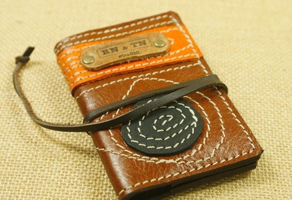 business card case. LOVE this!: Cards Cases, Business Cards, Etsy, Maps Brown, Leather Business