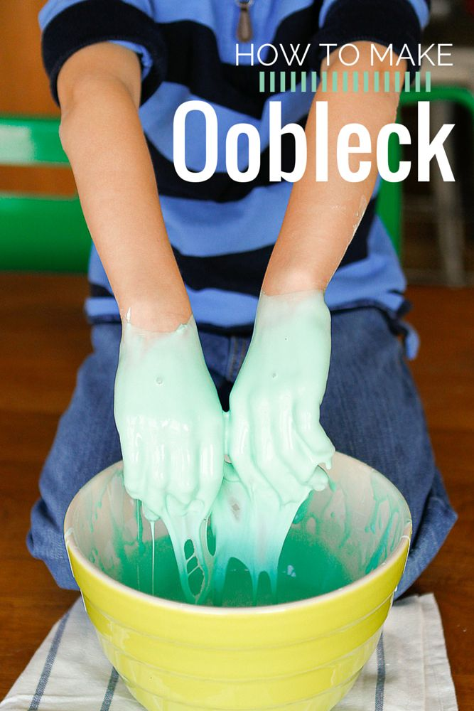 Oobleck Recipe -- if you've ever wanted to make oobleck at home, a la Bartholomew and the Oobleck by Dr. Seuss, this tutorial is for you! Every one of my five kids, from my 6-year-old right up to my almost 12-year-old, wanted a chance to play with it. Super inexpensive and a fun science experiment! | via @unsophisticook on unsophisticook.com