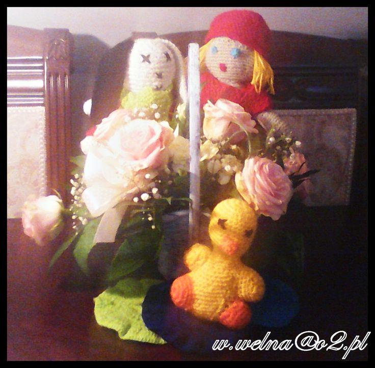 Słonecznej Środy :)  #wiosna #handmade #Easter #flower #sun #duck #redhood #bunny #kaczka #królik #kwiat #kwiaty #rękodzięło #Wielkanoc #wełna