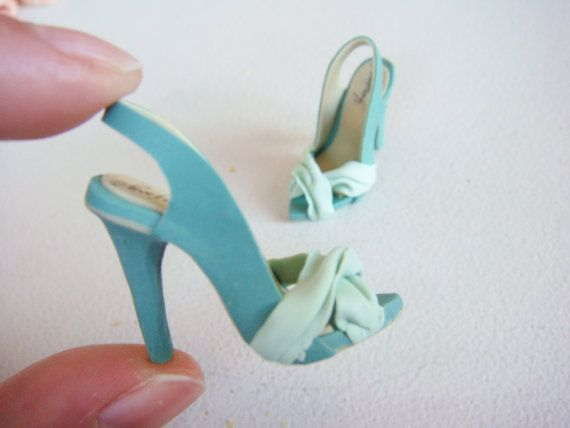 Miniature High Heel Shoes Handmade from Polymer Clay by YinyingO,