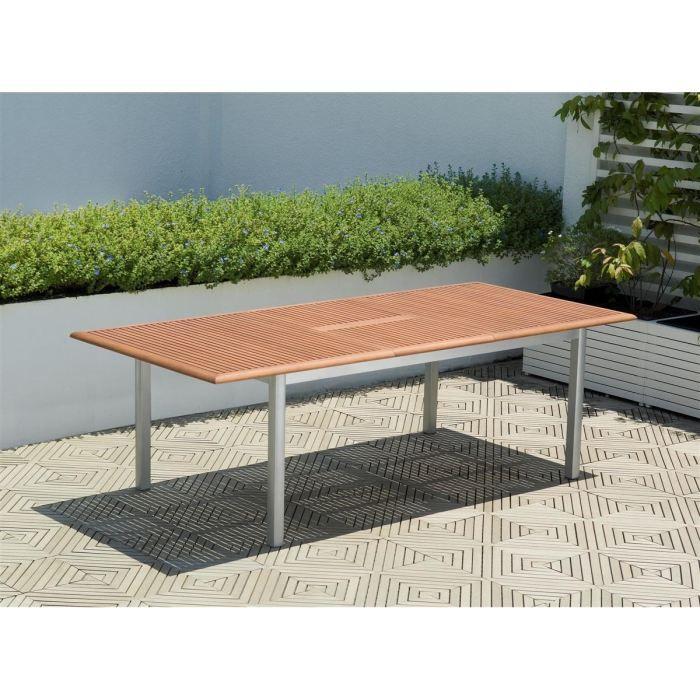 ma table de salon de jardin torino table extensible 180 241cm eucalyptus fsc - Salon De Jardin Mtal Color
