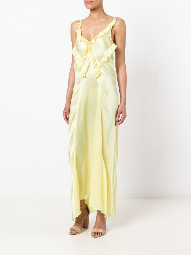 Attico yellow ruffle dress - click through for more white tie wedding guest dresses