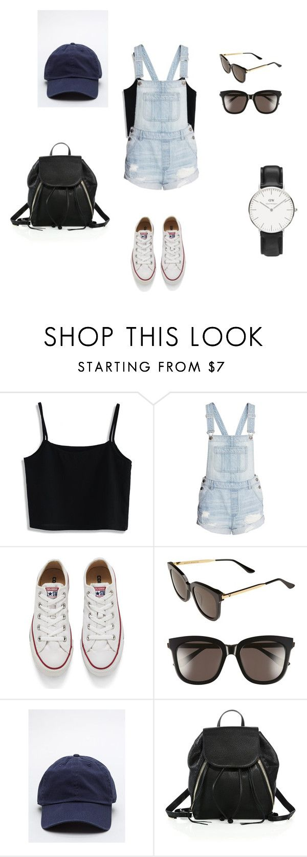 """Theme Park Outfit"" by hellabeast on Polyvore featuring Chicwish, H&M, Converse, Gentle Monster, Rebecca Minkoff and Daniel Wellington"
