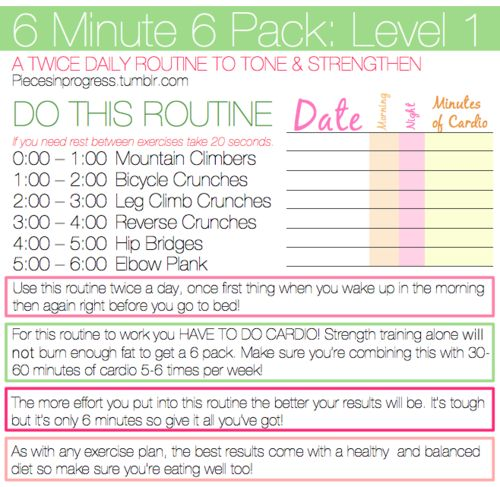 how to a six pack in 3 minutes
