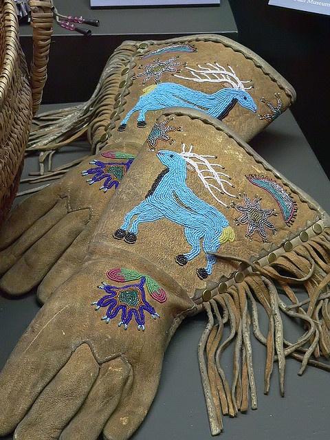 Ute beaded gloves, via Flickr.