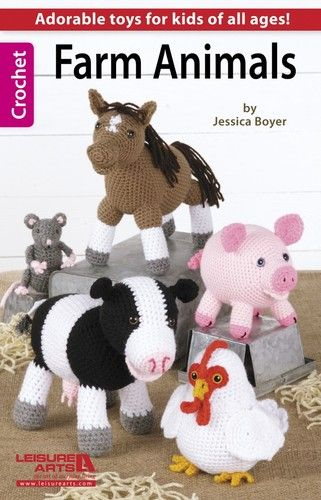 Farm Animals Crochet Patterns Cow Chicken Pig Horse Mouse Lamb Sheep Book Toys | eBay - Good 4 Inspiration anyway.