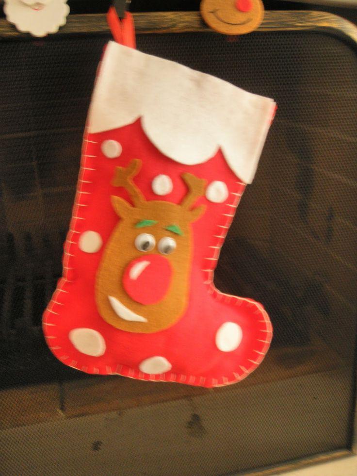 Christmas reindeer stocking!!!