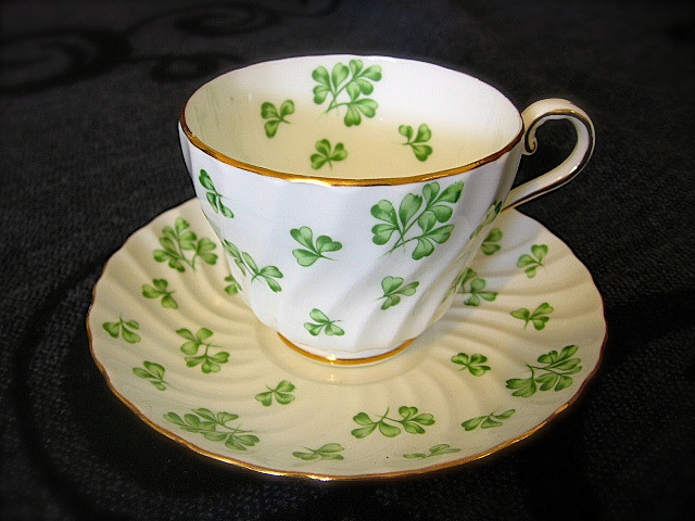 St Patrick's Day teacup