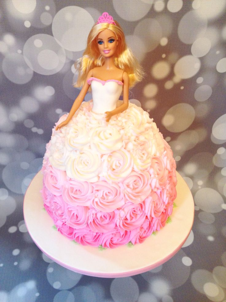 Pink Ombré Barbie Cake, by Amy Hart                                                                                                                                                                                 More