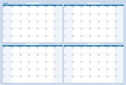 4-Month 120-Day Dry and wet Erasable Wall Calendar | Undated