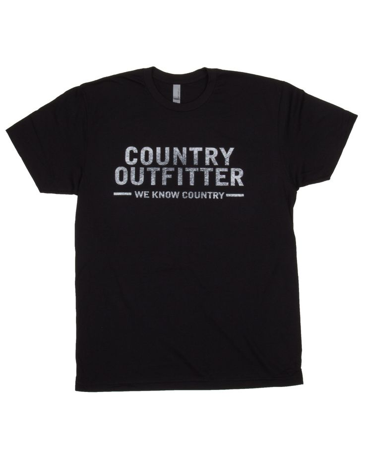 The Country Outfitter logo makes its way to the most comfortable t-shirt we could find. And what could you possibly wear it with besides your favorite pair of cowboy boots?*Runs a bit small.
