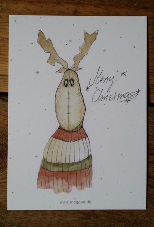#christmas #card #christmasgreeting #cards #greeting #xmas #xmascard #xmasgreeting #christmascard #jul #julehilsner #merrychristmas #watercolors #art #illustration