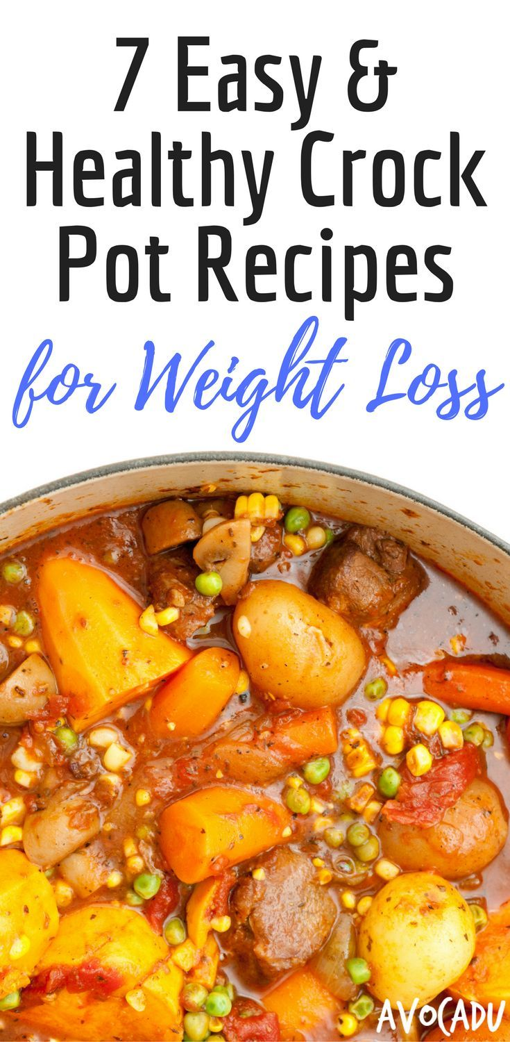 Easy Healthy Crock Pot Recipes for Weight Loss | Lose Weight Fast | Diet Recipes | http://avocadu.com/8-easy-healthy-crock-pot-recipes-for-weight-loss/