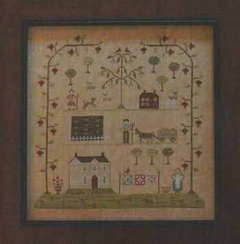 Free Cross Stitch Samplers | ... Sampler of the Season Spring - Cross Stitch Pattern - 123Stitch.com