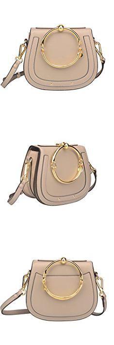 Chloe Small Bag. Ainifeel Women's Leather Handbags With Bracelet Handle On Clearance (Taupe(leather+suede)).  #chloe #small #bag #chloesmall #smallbag