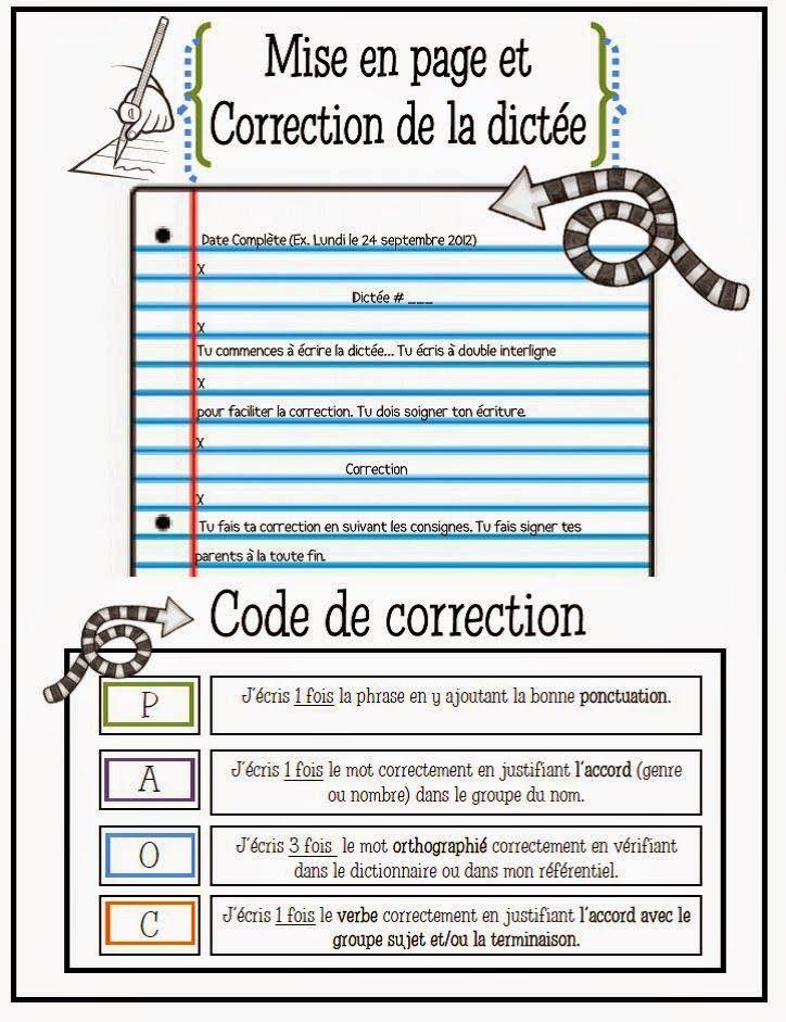 Mise en page et correction des dictées www.laclassedekarine.blogspot.com