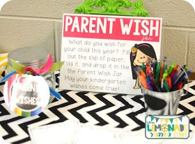 Parent wish jar at Open House/Parent Night!