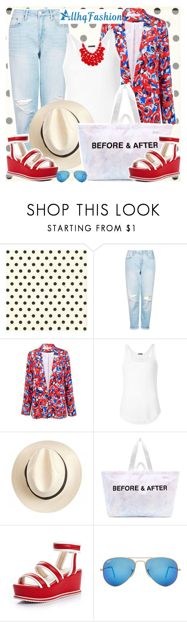 """1330. ALLHQFASHION Shoes!"" by marymary91 ❤ liked on Polyvore featuring Topshop, Alice & Trixie, ATM by Anthony Thomas Melillo, Whiteley, Off-White, Ray-Ban and allhqfashion"