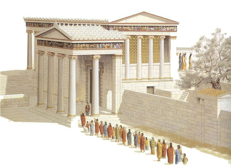 Erecteion reconstrucci n mnesicles arte griego for Epoca clasica