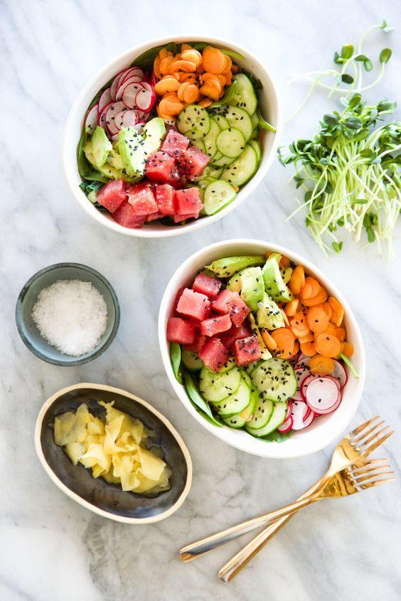 Poke bowl thon et crudités - #Pokebowl, le plat hawaïen de poisson qui a tout bon - Elle à Table