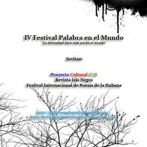 """V Festival Internacional """"Palabra en el Mundo"""" http://www.encuentos.com/conciencia-social/v-festival-internacional-palabra-en-el-mundo/"""