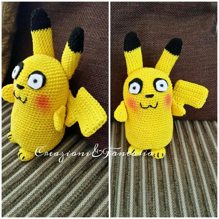 #handmade #creazioniefantasia #fattoamano #fattoamanoconamore #madeinitaly #artigianato #artigianatoitaliano #handmadewithlove #accessori #handmadepassion #instapic #instagood #instacool #pikachu #pokemon #pokemonmania #handcrafted #lemaddine #creativemamy #crochetaddict #crochetart #uncinetto #amigurumi #crochet #picoftheday #cool #cute #instagram