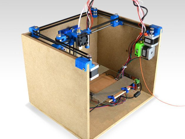 SmartrapCore is a low-cost, open-source wooden box 3D printer
