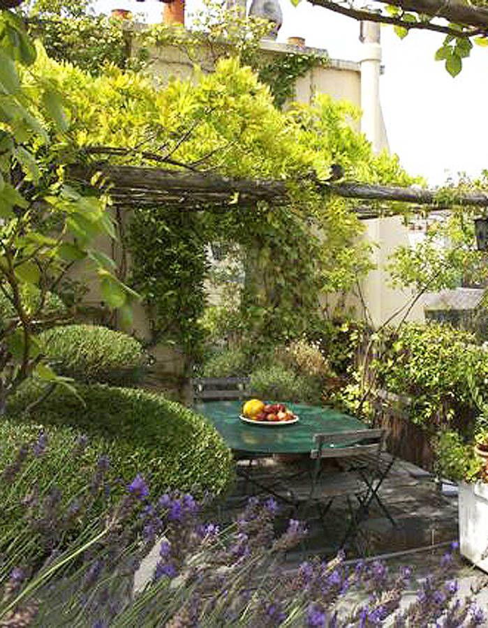les 65 meilleures images du tableau jardin citadin sur pinterest am nagement de jardin. Black Bedroom Furniture Sets. Home Design Ideas